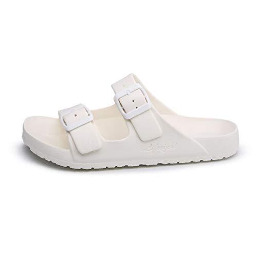 Energyers 2 Buckle Straps Fashion Slippers Summer Beach Outdoor Flat Sandals Men Bath Indoor Slip On Nonslip Slides Shoes