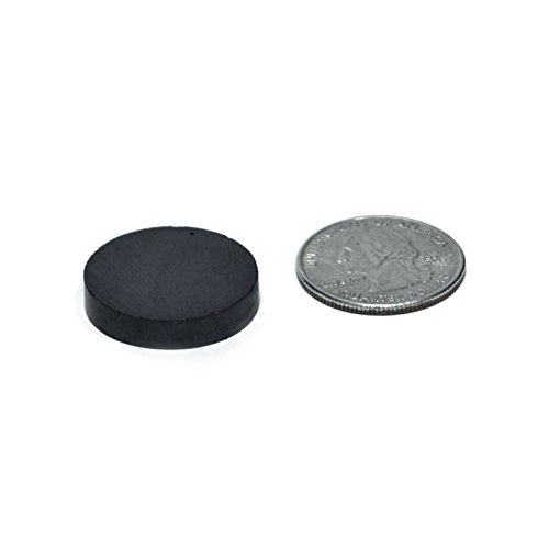 TAQTON Small Ceramic Craft Magnets - 50 pcs. 1'' x 0.16'' Thick. Industrial Strength Craft Magnets, Ferrite Disc Magnets. by TAQTON (Image #2)
