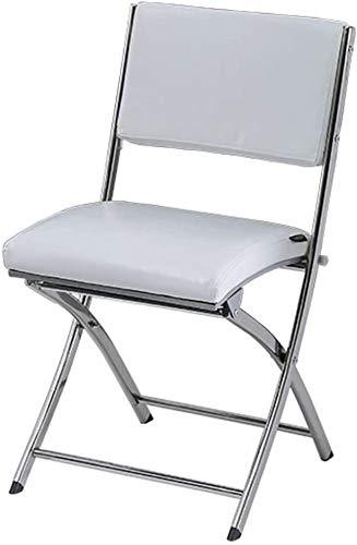 Silla de cuero plegable protable Pu, sillas de conferencia del marco fijado con el acero acolchada for la recepcion de Ministerio del Interior Sala de espera huesped del partido (H46cm (h18inch)) 0606