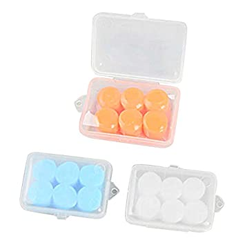 Guajave 3Pairs Swimming Sleeping Anti-noise Waterproof Earmuffs Soft Silicone Ear Plugs for Home