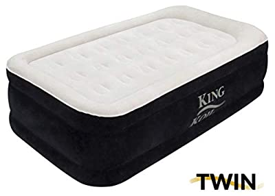 King Koil Luxury Raised Airbed with Built-in 120V AC High Capacity Internal Pump Comfort Quilt Top