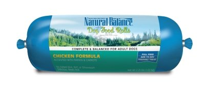 "CHICKEN FOOD ROLL 2.25LB ""Ctg: NATURAL BALANCE - NA DOG DRY"""