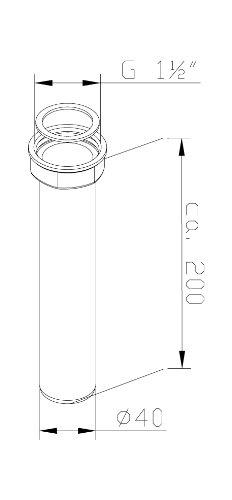 Adjustable Plastic Tube for Odour Trap for Sink/Kitchen Sink, 22161 0