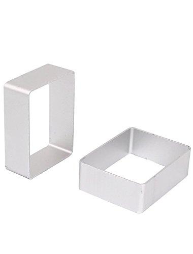 BTMB Aluminum Cookie Cutter Rectangles Set of 10(Small rectangle)