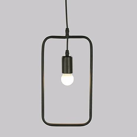 Retro lámpara de techo, metal negro forma geométrica ...