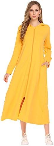 Meaneor Women's Plus Size Long Ultra-Soft Fleece Hoodie