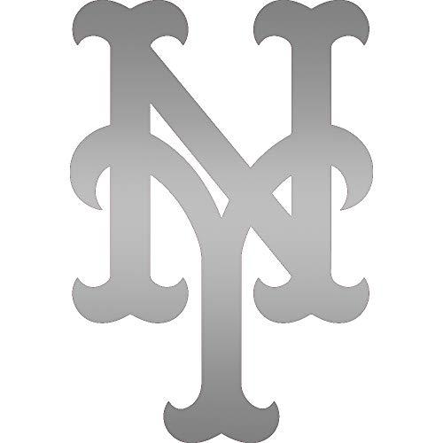 NBFU DECALS MLB New York Mets (Metallic Silver) (Set of 2) Premium Waterproof Vinyl Decal Stickers for Laptop Phone Accessory Helmet CAR Window Bumper Mug Tuber Cup Door Wall Decoration ()
