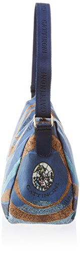 GATTINONI Damen Medium Satchel Bag Schultertasche, 16x28x34 centimeters Mehrfarbig (Sky)