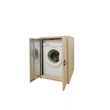 Castellani verzinkte Abdeckung Waschmaschine Schrank mit Türen ...