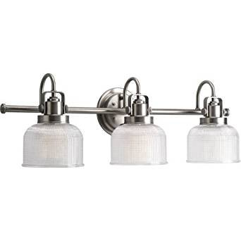 """Saint Mossi Vintage Industrial Modern Wall Lamp Contemporary 3 Round Glass Shade Vanity Light 3 E26 bulbs Sconce Wall Light H10"""" X W26"""" x D7"""""""