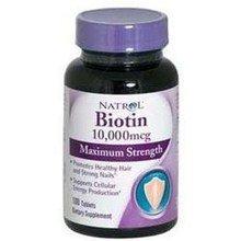 Natrol Biotin Maximum Strength 10,000 mcg (Pack of 5) (100 (Maximum 100 Tablets)