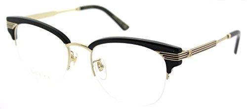 Gucci GG 0201O 001 Black Plastic Eyeglasses 50mm by Gucci