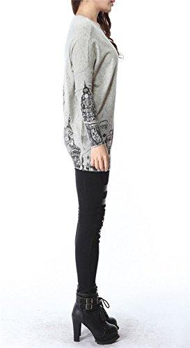 Très Chic Mayo Landa–Chaqueta de punto para Clock Tower Knit Jersey Sweaters Tops gris