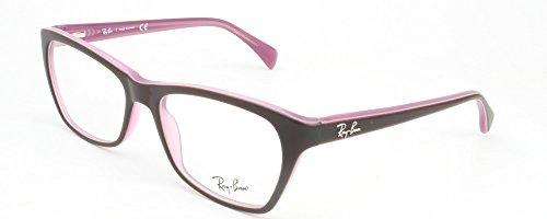 Ray-Ban Women's RX5298 Eyeglasses Top Matte Brown On Opal Pink - Women Prescription Ray Glasses Ban