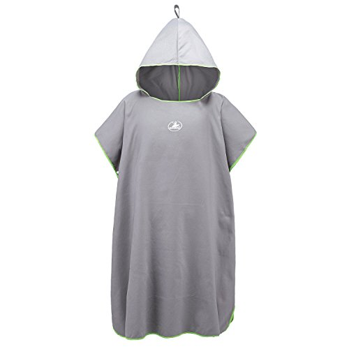 Angie-Dream Outdoors Quick Dry Travel Hooded Towel - Compact Microfiber Hoodie Towel for Camping, Backpacking, Swimming, Sport,Surfing and Gym For Man, Women (Gray)