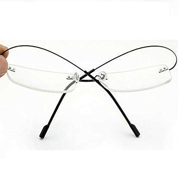 d4c3d8e9bbed4 Image Unavailable. Image not available for. Color  Stylish Super Lightweight  Bendable Titanium Alloy Flex Arm Rimless Rectangle Reading Glasses Men Women  ...