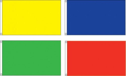 ONE Plain, Solid, Blank, Colored 3'x5' NYLON FLAG, Choose From 5 Different - Flags Blank Nylon