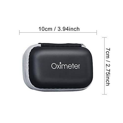 EVA Oximeter Blood Oxygen Monitor Storage Bag, Portable Zipper Carry Pouch Box for Fingertip Pulse Durable Organizer