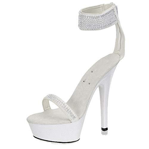 Di Modello Eccellente Di Black12 Estate Sexy Centimetri Grandi Scarpe Tallone Femminili Dimensioni A Spillo Impermeabili Sandali Alto 15 rrPtqTSw