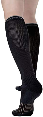 Copper Fit Unisex 2.0 Easy-On and Easy-Off Knee High Compression Socks