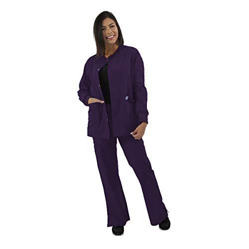(Spectrum Nursing Scrub Jackets - Warm Up Crew Neck - Unisex - Purple -)