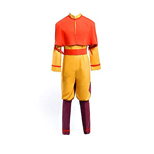 Avatar The Last Airbender Bumi Avatar Aang Cosplay Costume]()
