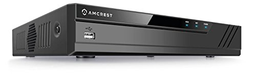 Amcrest NV2108E 8-Channel POE NVR 1080P/3MP/4MP/5MP/6MP Network Video Recorder - Supports Recording 8CH Up to 6-Megapixel IP Cameras, 8CH Power Over Ethernet, Supports up to 6TB HDD (Not Included) by Amcrest