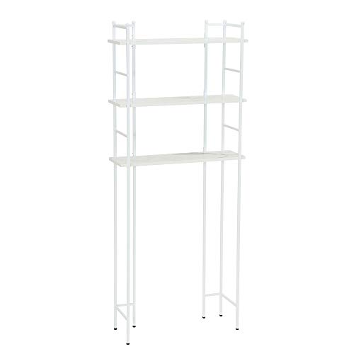 - Household Essentials 8060-1 Over The Toilet Space Saving Metal Shelves for Bathroom | Faux White Marble