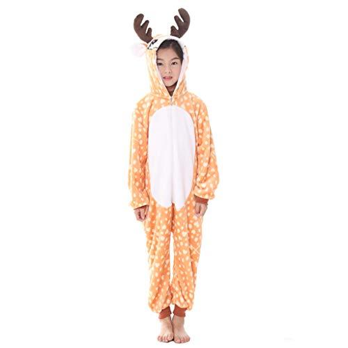 Meeyou Kids Unicorn Costume, Animal Onesie Pajamas for Boys & Girls (120(Height:45.3