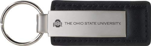 Ohio State University - Leather and Metal Keychain - Black