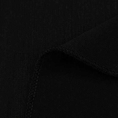 Camicetta Tops Di Spalla Eleganti Blusa Donna Schienale Estivi schwarzSize Parola Pieghe Casual BlusecolorZ Camicie Smanicato Moda Senza L Monocromo Giovane Spalline Unico SpUGMVqz