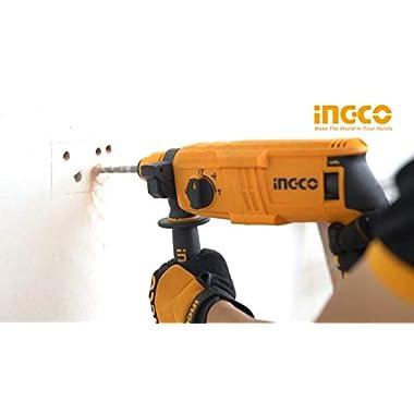 INGCO POWERTOOLS & HANDTOOLS 650W Rotary hammer With 3 SDS-PLUS drills 7