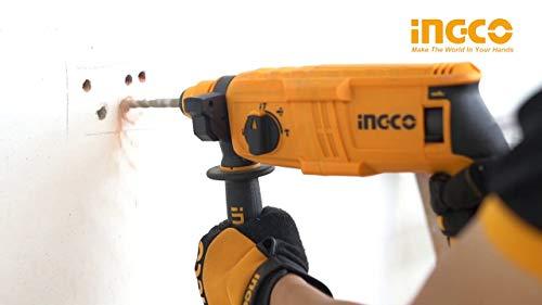 INGCO POWERTOOLS & HANDTOOLS 650W Rotary hammer With 3 SDS-PLUS drills 3
