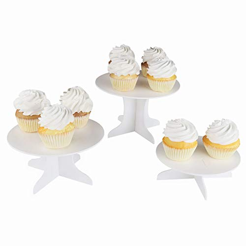 Three Piece Dessert Stand Set - Party DIY Round Display Stand -