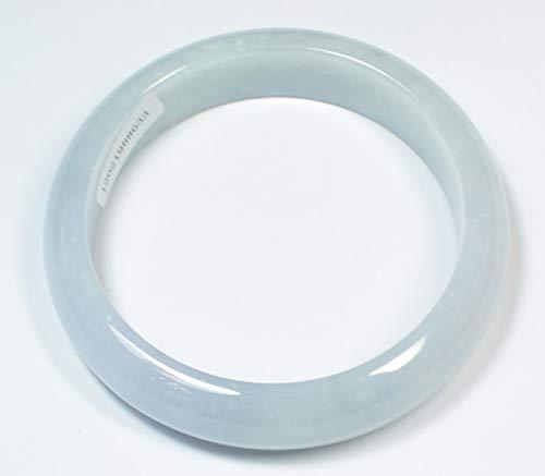 gojade Certified Light Green & Light Lavender 100% Natural A Jade Jadeite Bangle Bracelet 58.8 mm 手镯 703927