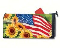 Mailwraps Stars (MailWraps American Sunflowers Mailbox Cover #01101)