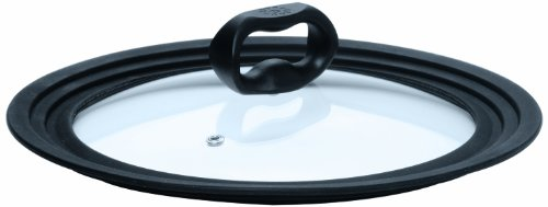 Ecolution Universal Lid for Pots and Pans, Vented Tempered Glass - Graduated Rims fit 6 inch, 7 inch, 8 inch Cookware
