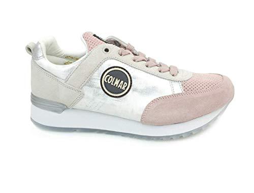 COLMAR Sneakers Donna 41 Bianco/rosa D-Travis Prime Primavera Estate 2019
