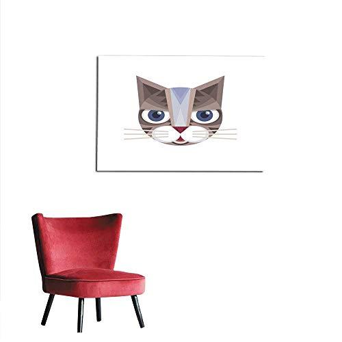 Wallpaper Cat Head - Vector Sign Illustration Mural