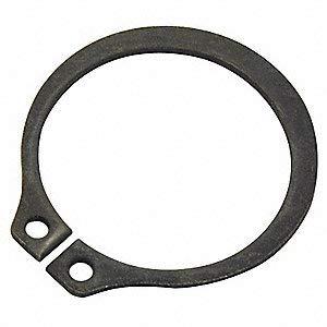 External Standard Retaining Ring, for Shaft Dia. 5'', Carbon Steel, 1 EA