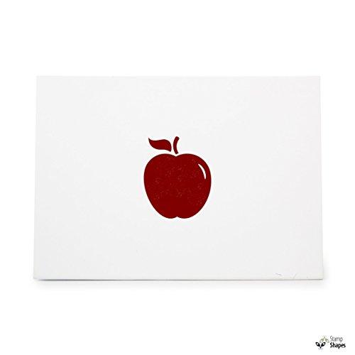 Apple Fruit Food, Rubber Stamp Shape great for Scrapbooking, Crafts, Card Making, Ink Stamping Crafts, Item -
