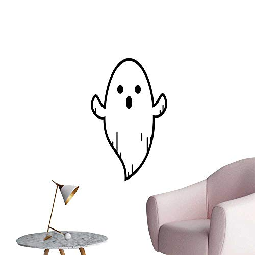 SeptSonne Wall Decoration Wall Stickers Ghost Doodle Cartoon Character Lines Isolate Symbol Halloween Print Artwork,16