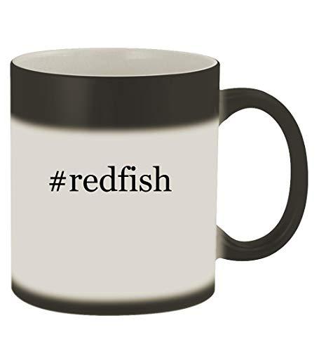 #redfish - 11oz Hashtag Magic Color Changing Mug, Matte Black (Best Rod For Redfish)