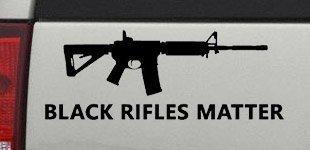 (Black Rifles Matter 2nd Amendment Decal Sticker for Car/Truck - Black 6