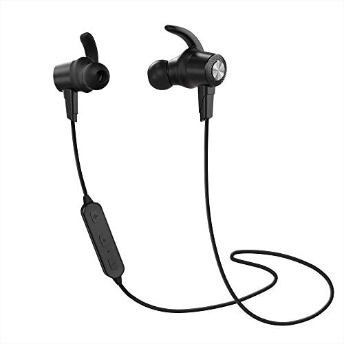 Bluetooth Headphones IPX5 Waterproof Wireless Sports Earbuds Bluetooth 4.1 Stereo in-Ear Earphones w CVC6.0 Noise Canceling Micro 7Hrs Headsets for Workout, Running, Gym