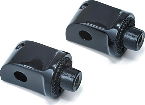 Footpeg Rear Adapters - Kuryakyn 8865 Splined Male Mount Peg Adapters for Front/Rear Footpegs and Floorboards: Kawasaki, Yamaha Motorcycles, Gloss Black, 1 Pair