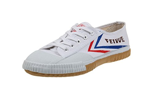 Feiyue Kungfu Martial Arts Taichi Trainer Shoes - For Men and Women (white, 46(men's 12))