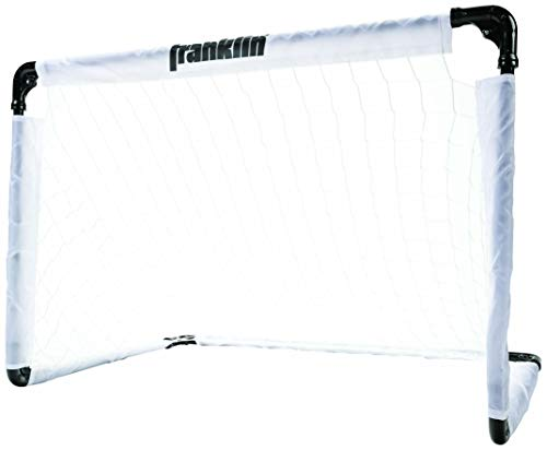 Franklin Sports Steel Soccer Goal - 36 x 24 Inch Size - Easy Assembly - Convenient Fold Flat Design for Storage - Target Age Group 6+