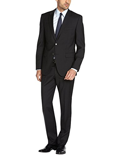 Valentino 2 Piece - Gino Valentino Men's Two Button Side vents Jacket 2 Piece Modern Suit (50 Regular US / 60R EU/W 44