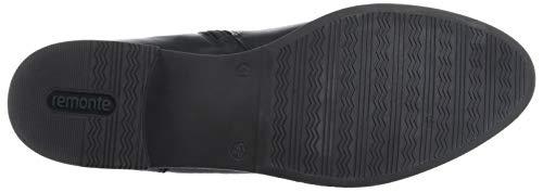 Stiefel Negro Para Rieker De Mujer schwarz Cuero Botas Combi 7nBvAq6